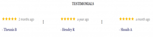 Testimonials from our Satisfied Two Way Radio Customers